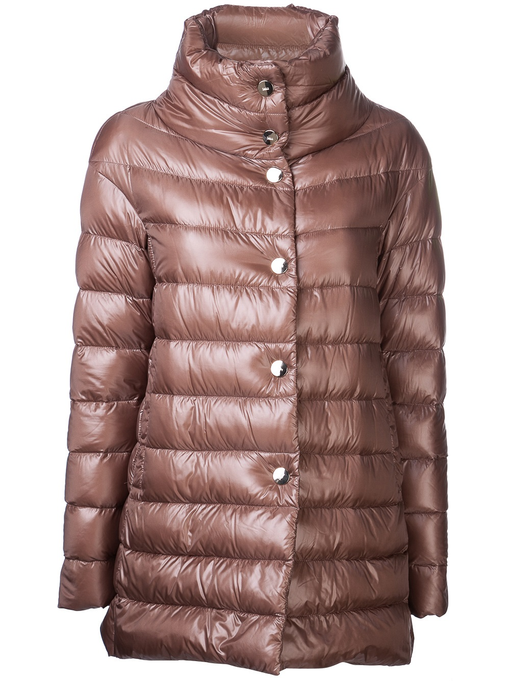 Herno Puffer Coat In Brown Lyst