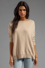 Inhabit Cashmere Weekend Sweater in Beige - Lyst
