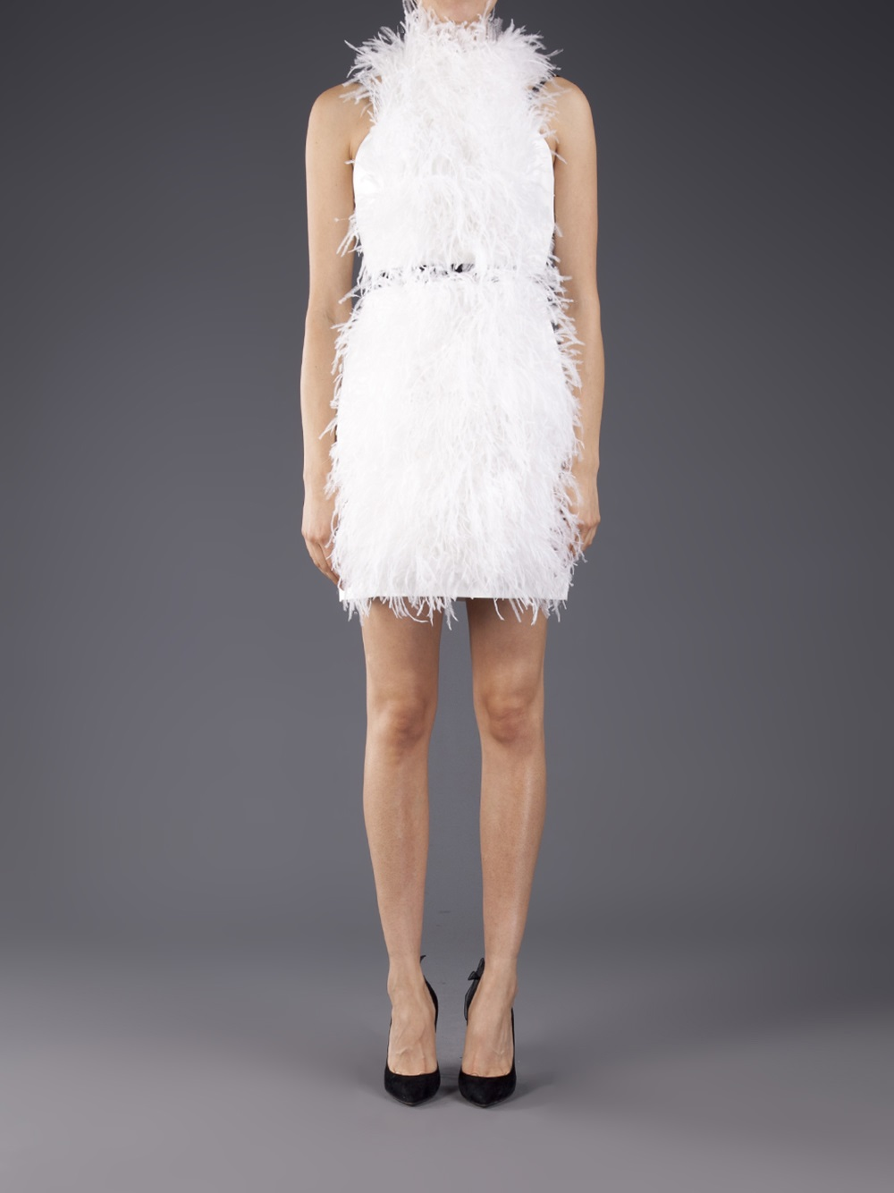 Lyst Jason Wu Ostrich Feather Dress In White