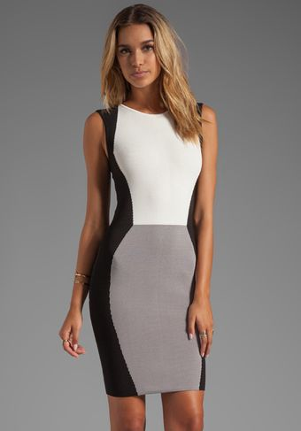 Jay Godfrey Sterling Colorblock Knit Sheath in White - Lyst