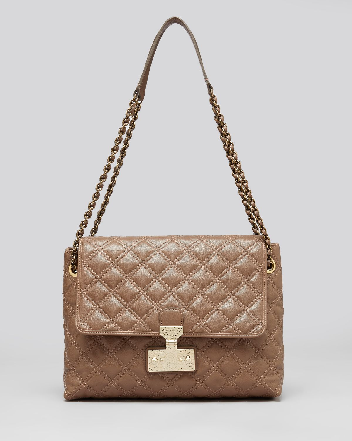 d874f8eb35 Lyst - Marc Jacobs Shoulder Bag Quilted Baroque Xl Single in Brown