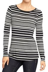 Old Navy Boatneck Jersey Tees - Lyst