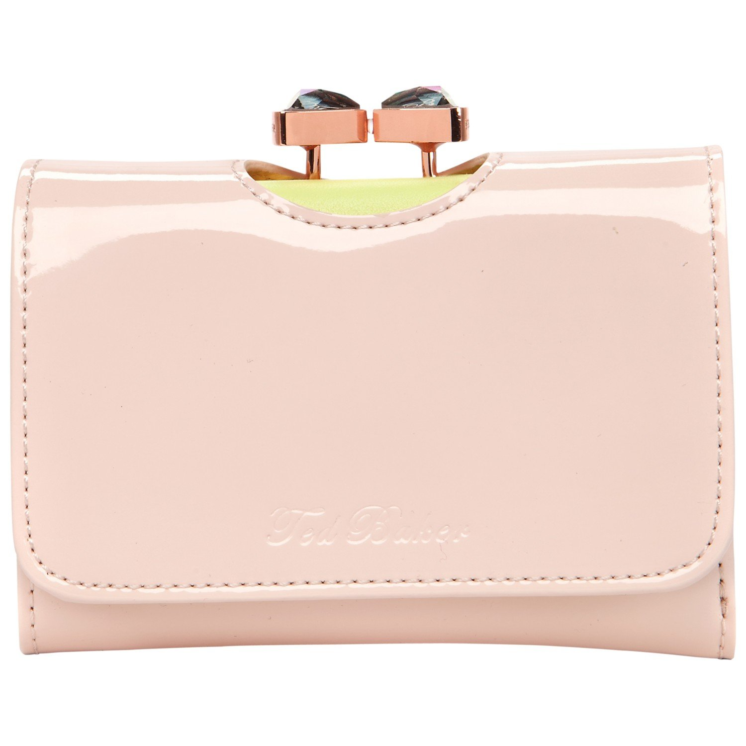 54dda57dd47a9a Ted Baker Tyro Crystal Bow Bobble Patent Small Purse in Pink - Lyst