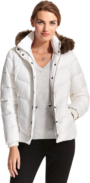 Tommy Hilfiger Puffer Jacket in White (LITTLE WHITE) - Lyst