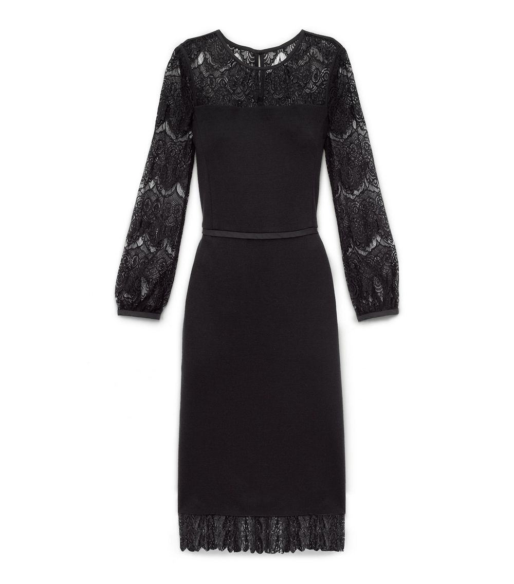 Tory burch tiana dress in black lyst for Tory burch fashion island