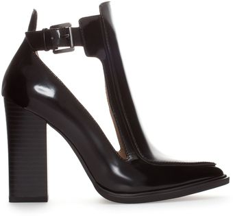 Zara Open Ankle Boot Style Court Shoe - Lyst