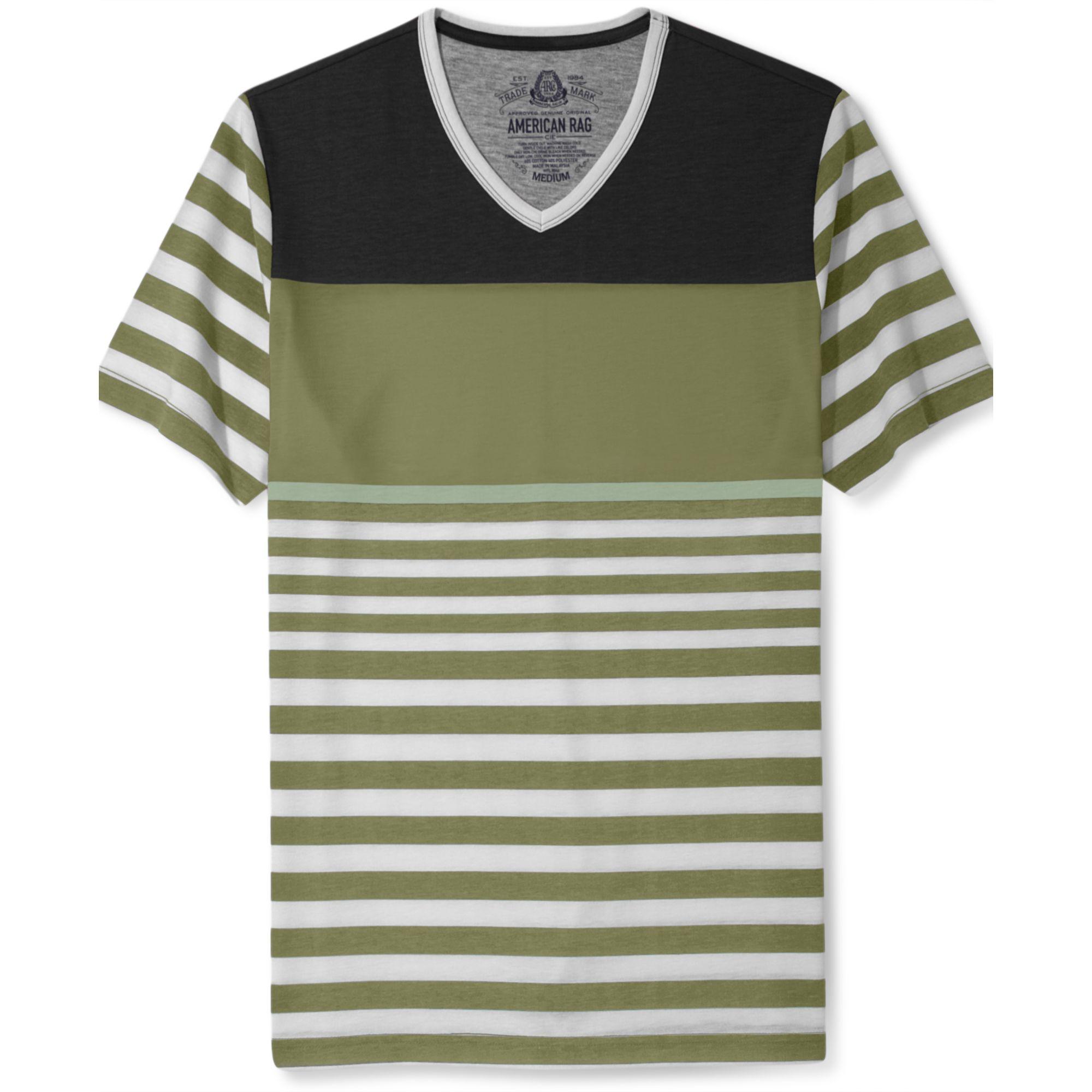 american rag date stripe sleeve tshirt in