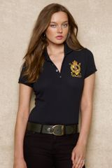 Blue Label Pima Cotton Mesh Polo - Lyst