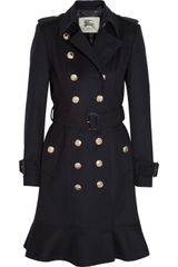 Burberry Wool and Cashmere Blend Trench Coat - Lyst