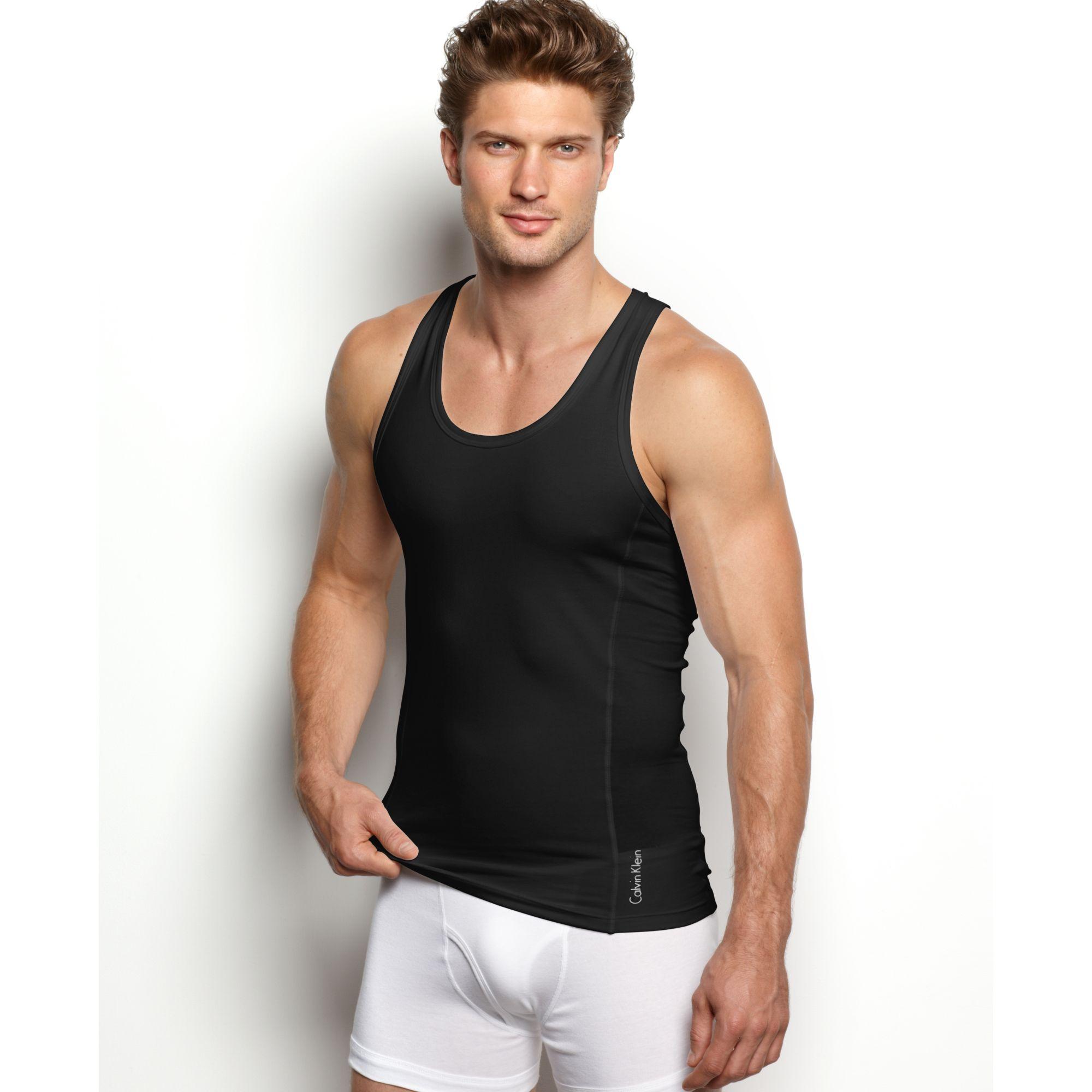 7893b32028dfa Lyst - Calvin Klein Prostretch Slim Fit Tank in Black for Men