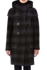 Christopher Raeburn Check Wool Duffel Coat - Lyst