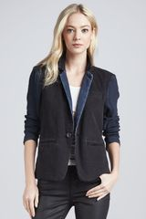 Current/Elliott Denim Blazer - Lyst