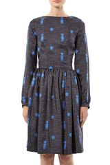 Freda Lydia Printed Silk Dress - Lyst