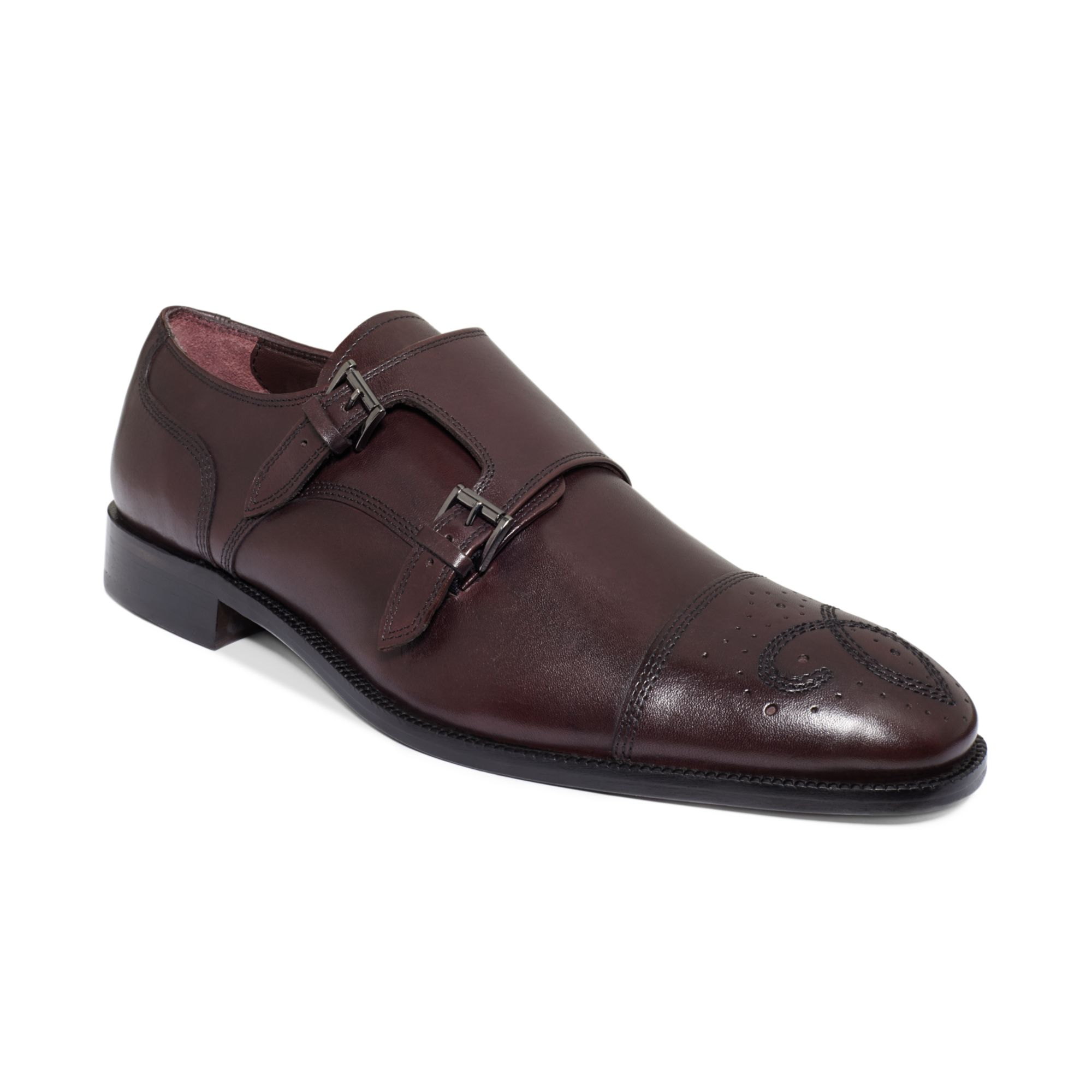 Donald J Pliner Leather Monk Shoes