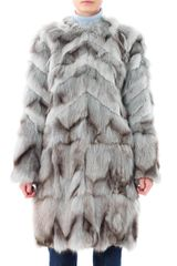 Matthew Williamson Patchwork Fur Coat - Lyst