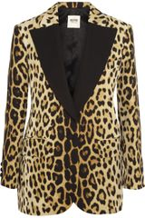 Moschino Cheap & Chic Leopardprint Crepe Blazer - Lyst