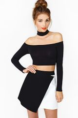 Nasty Gal Crawford Crop Top - Lyst