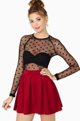 Nasty Gal Seeing Spots Mesh Top - Lyst