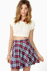 Nasty Gal Nevermind Skater Skirt - Lyst