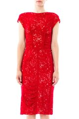 Nina Ricci Lace Stretchwool Dress - Lyst