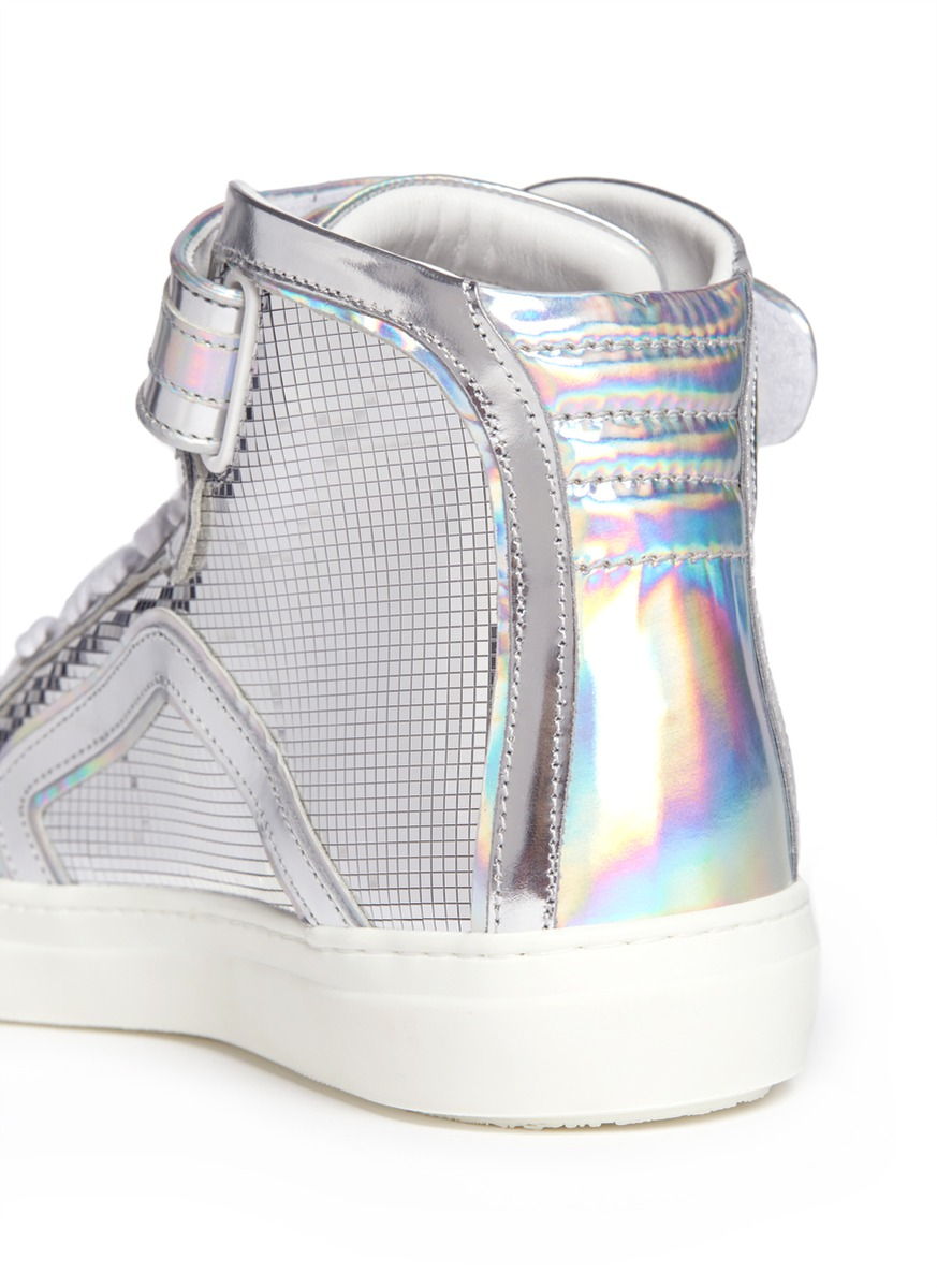 6733c83dc0c05 Lyst - Pierre Hardy Disco Ball Holographic High-top Sneakers in ...