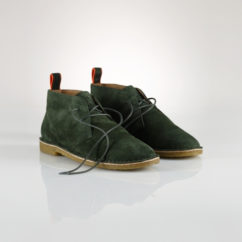 Polo ralph lauren Casterton Suede Chukka Boot in Green for Men | Lyst