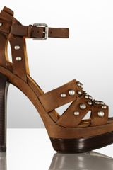Ralph Lauren Collection Joselyn Stud Vachetta Sandal - Lyst