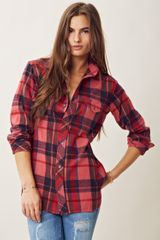 Textile Elizabeth And James Kurt Flannel Top - Lyst