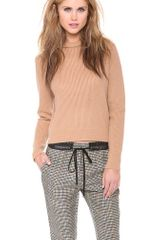 3.1 Phillip Lim Cropped Pullover with Rolled Neck - Lyst