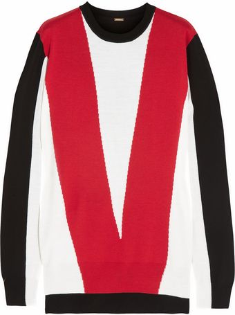Adam Lippes Intarsia Wool Sweater - Lyst