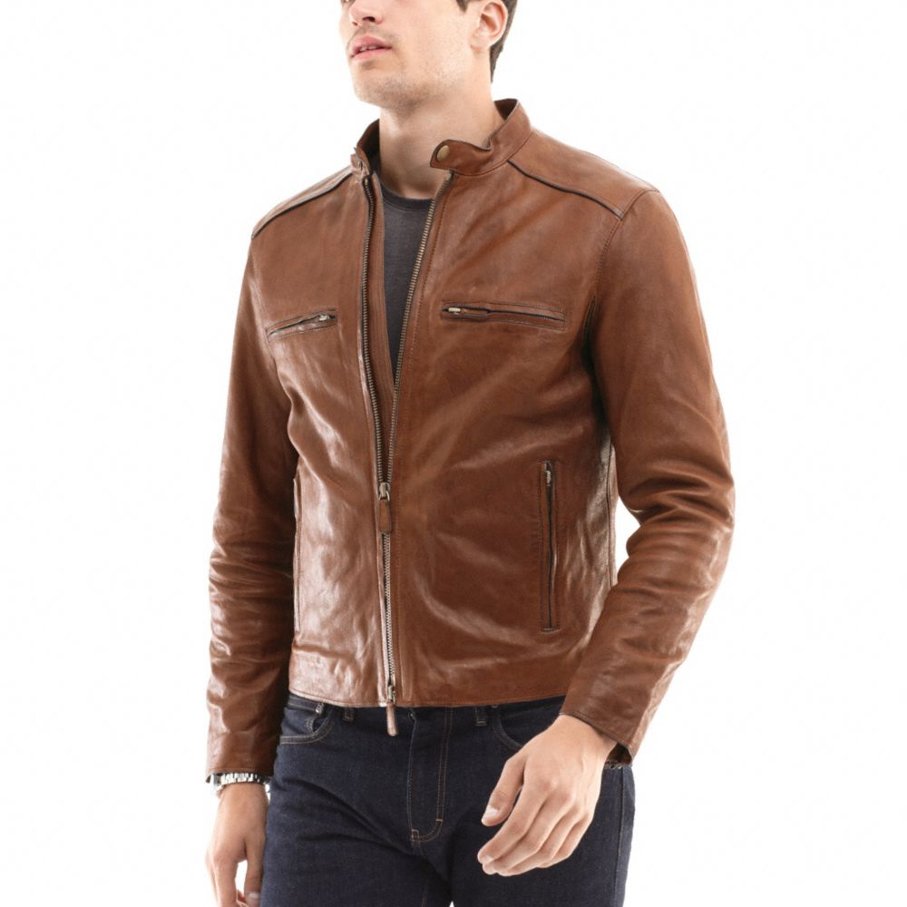 98477a4c564 ... greece coach bleecker leather racer in brown for men lyst 17c3f dfb08