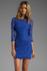 Diane Von Furstenberg Zarita Dress in Blue - Lyst