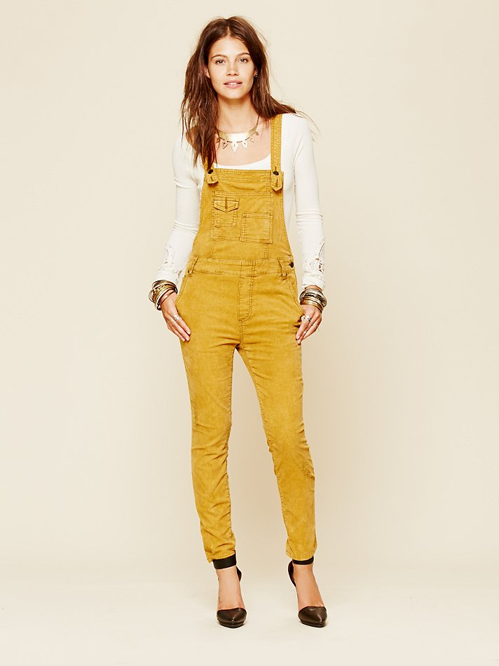 Lyst - Free people Through The Woods Corduroy Overall in ...