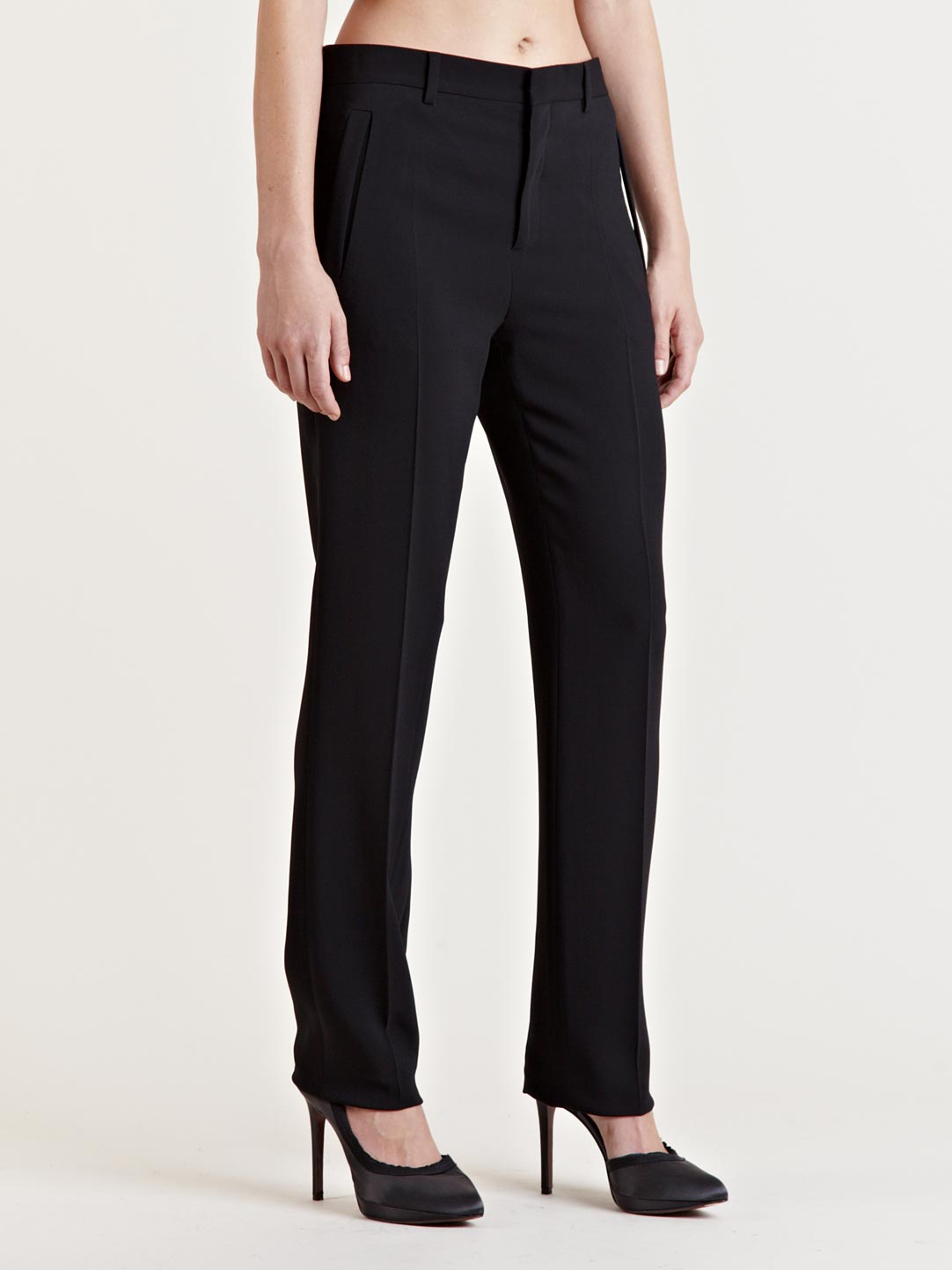 Lyst Givenchy Womens Straight Leg Tailored Pants In Black