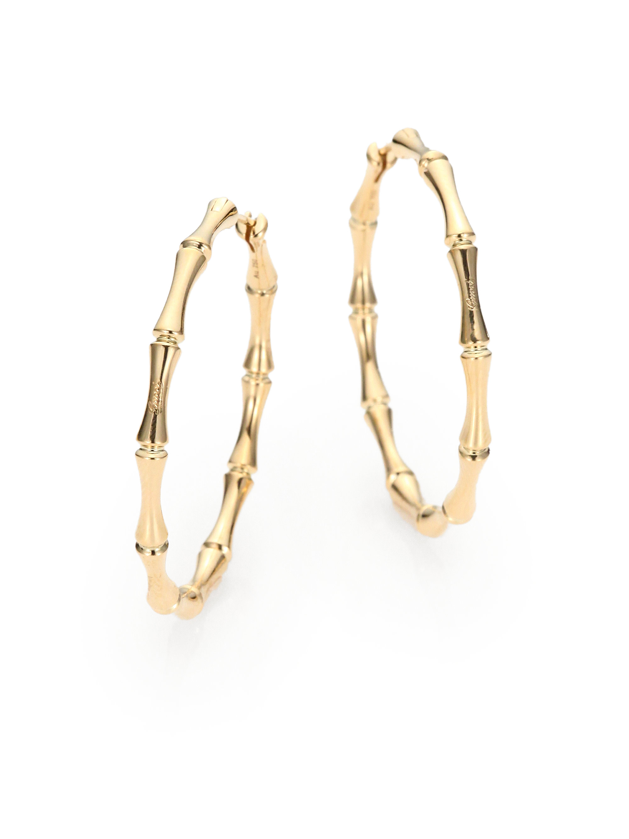 Gucci Gold Earrings Gucci Bamboo 18k Yellow Gold