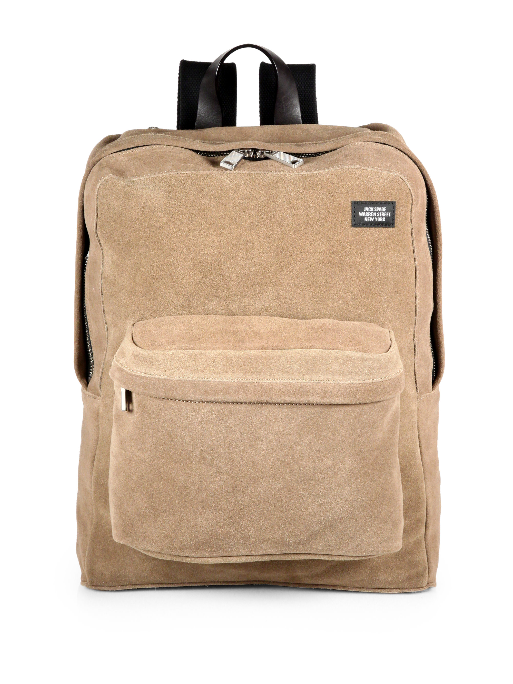 Jack spade Suede Backpack in Natural for Men | Lyst