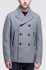 Jil Sander Bristol Double Breasted Peacoat Gray - Lyst