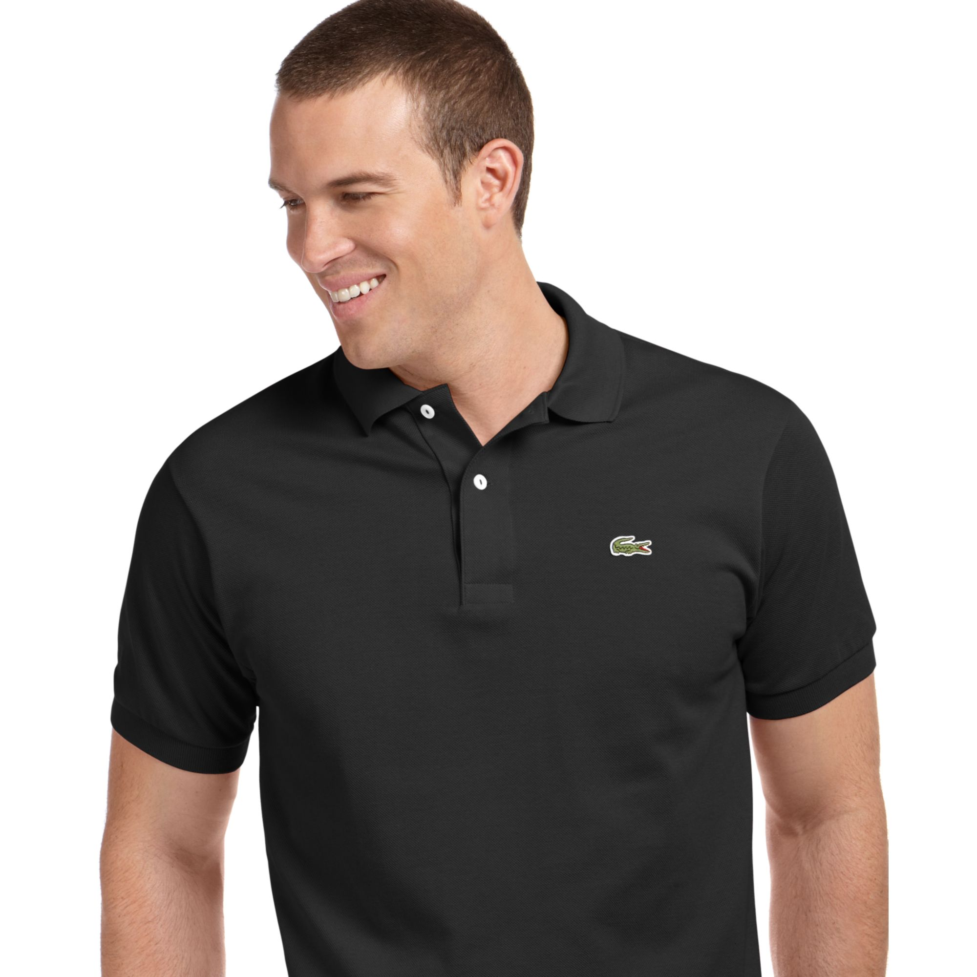 Lyst Lacoste Classic Pique Polo Shirt In Black For Men