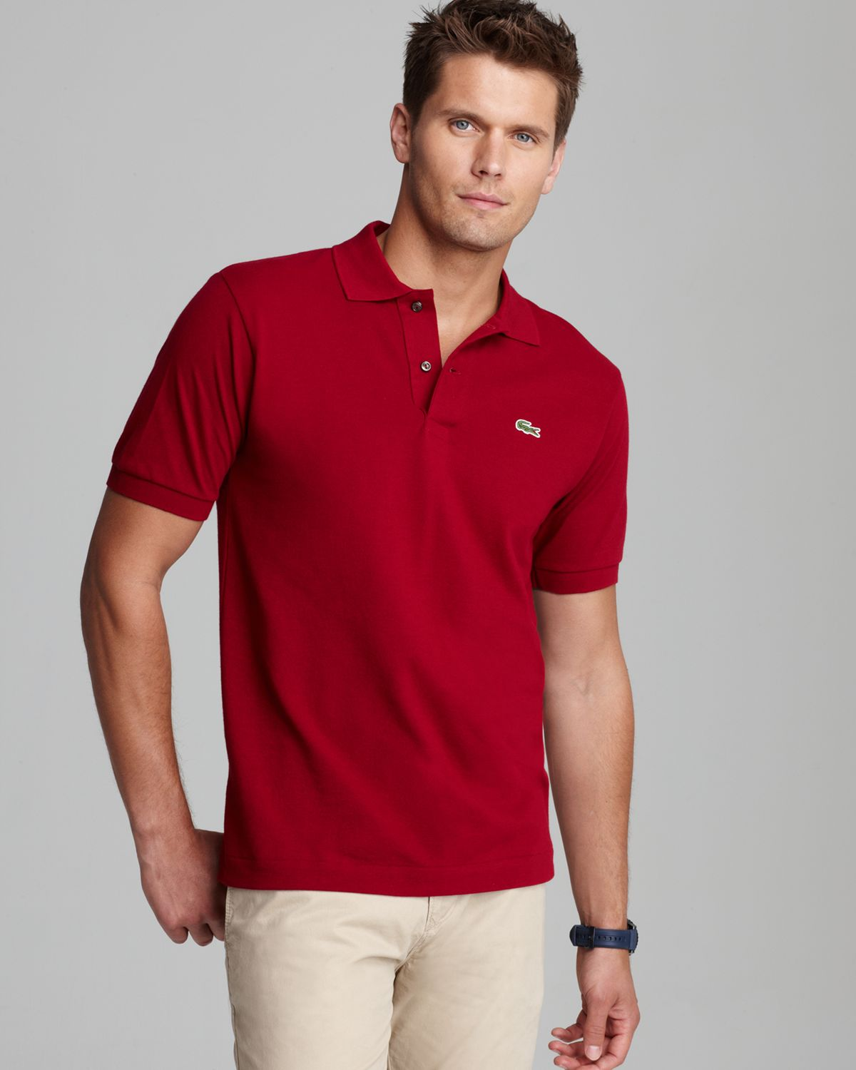 2291cd8ecf43b Lyst - Lacoste Classic Short Sleeve Piqué Polo Shirt in Red for Men