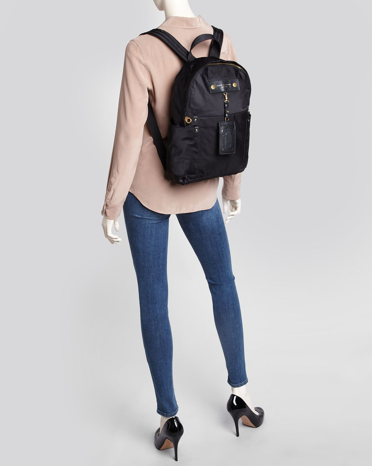 Marc By Jacobs Laukku : Marc by jacobs backpack preppy nylon in black lyst