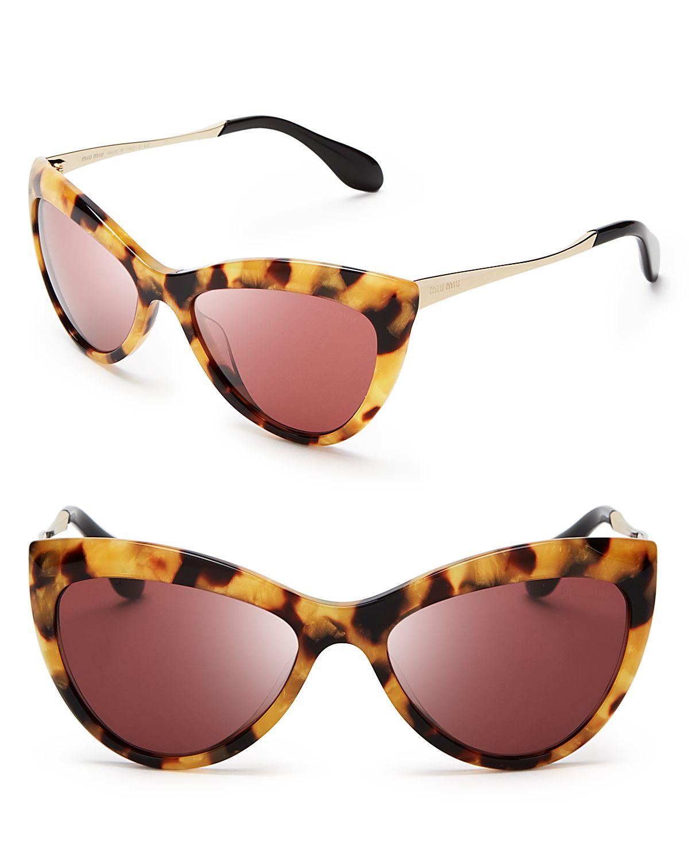 Lyst - Miu miu Cat Eye Sunglasses