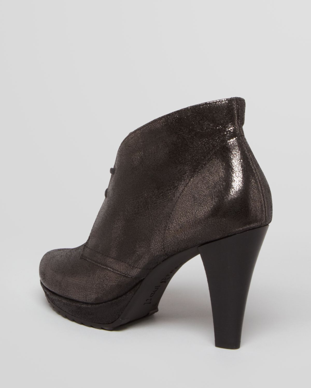 f847c0f78252 Lyst - Paul Green Lace Up Platform Booties New York High Heel in Brown