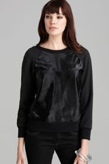 Rachel Zoe Top January Calf Hair Sweatshirt - Lyst