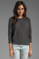 Rag & Bone The Basic Raglan in Charcoal - Lyst