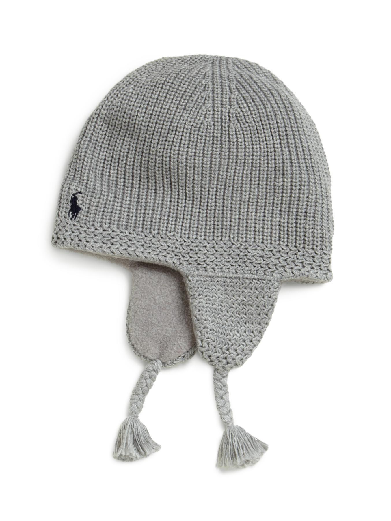 Lyst - Ralph Lauren Toddler Boys Knit Earflap Hat in Gray for Men 4ec091dd62b