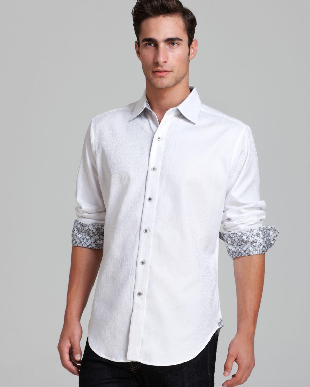 Robert graham windzor jacquard sport shirt classic fit in for Robert graham sport shirt