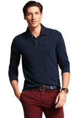 Tommy Hilfiger Long Sleeve Polo - Lyst