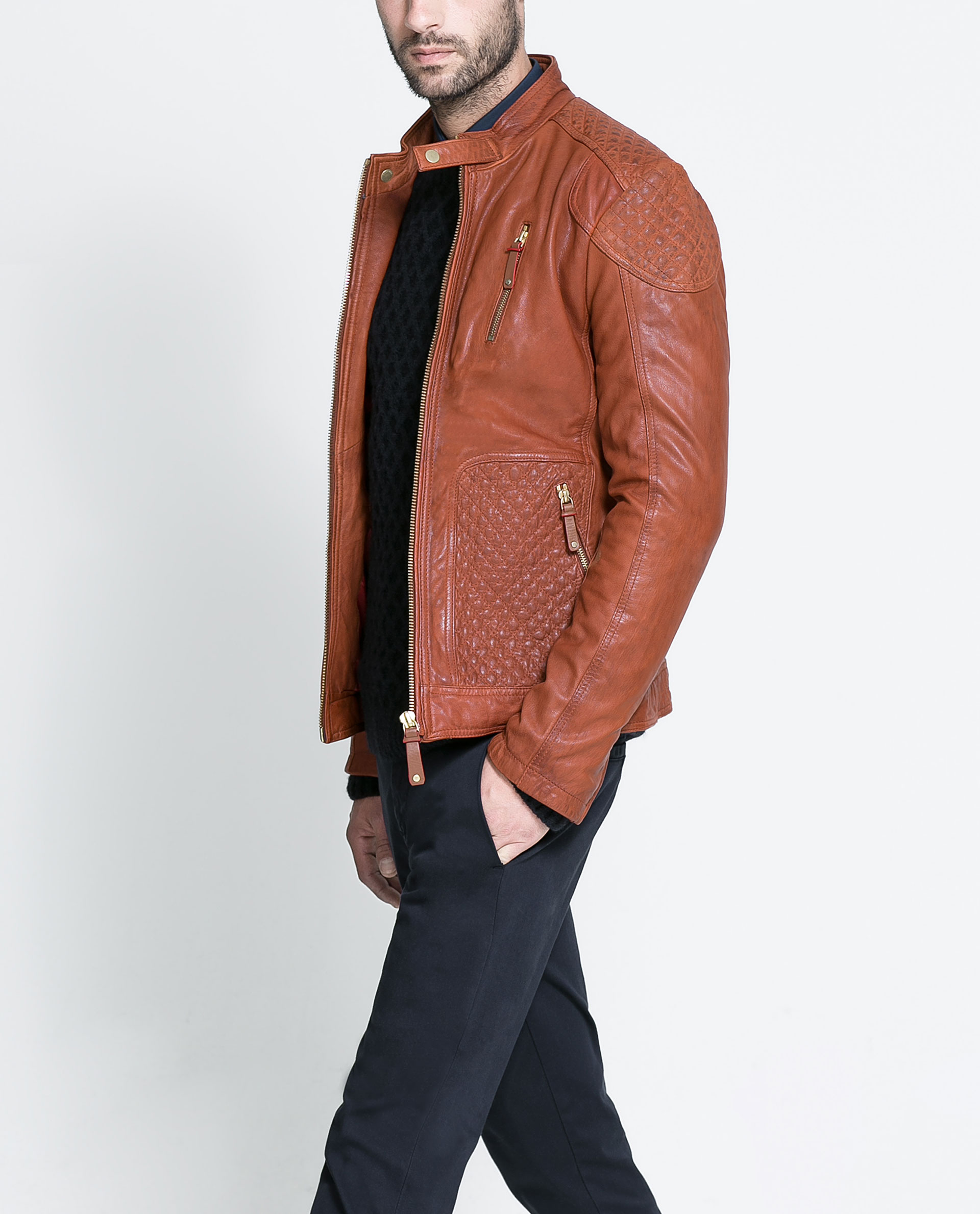Leather jackets zara