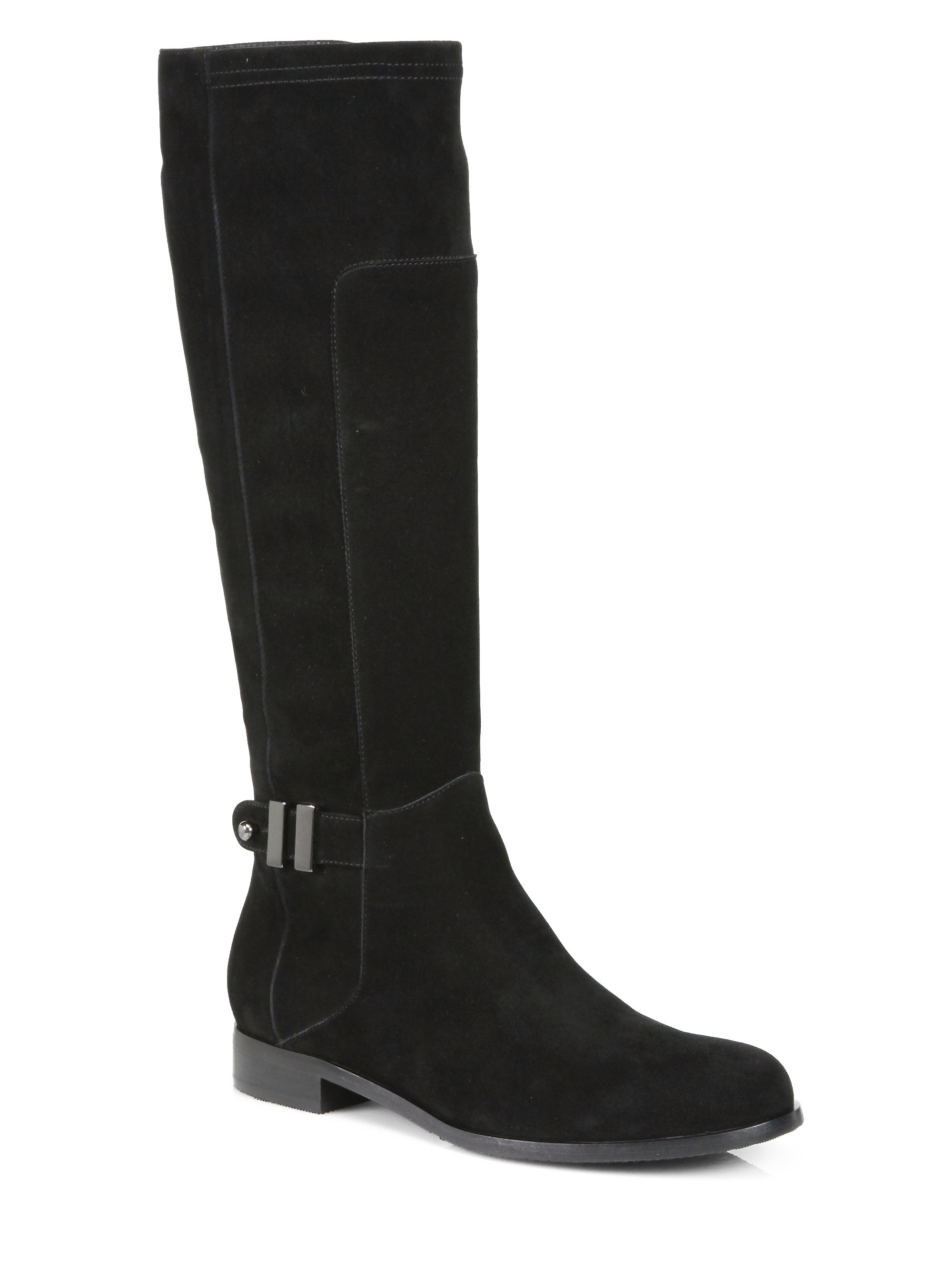 Aquatalia By Marvin K Dovert Suede Riding Boots in Black ...