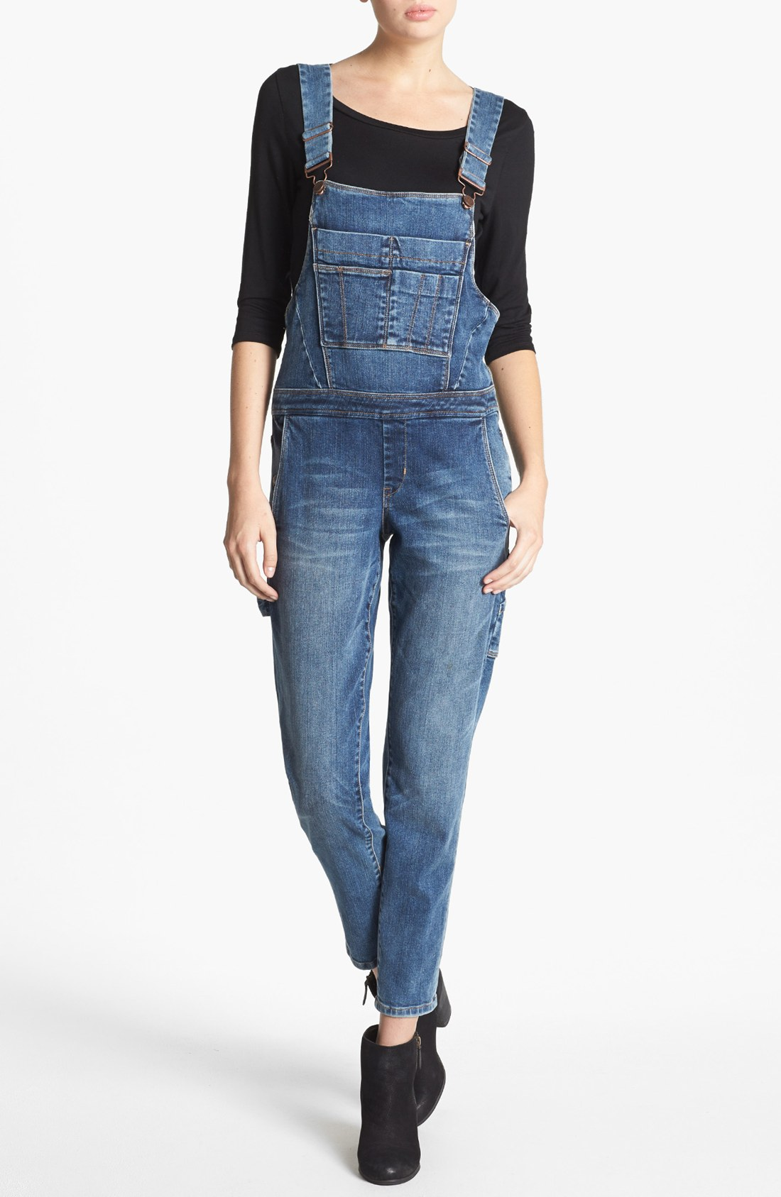 Denim overalls are back in action, and you'll find a wide array of styles here at Gap. Low Key Denim Rompers. Simple and easy to throw on in a jiffy, denim jumpsuits and rompers have become a staple for casual style that goes anywhere.